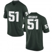 Game Youth Nolan Rossback Michigan State Spartans Green Football College Jersey