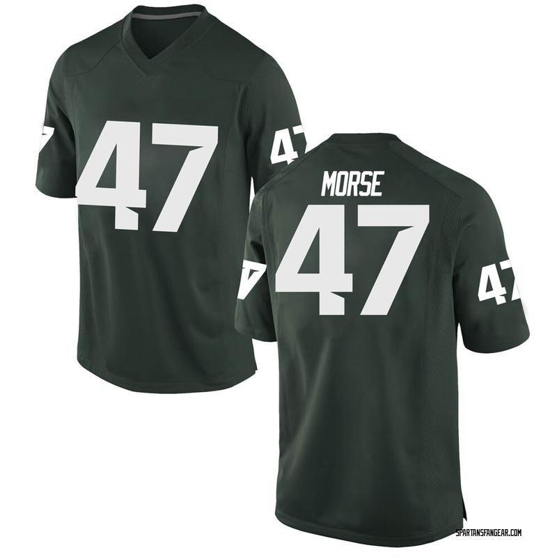 Replica Men's Jackson Morse Michigan State Spartans Green Football College Jersey