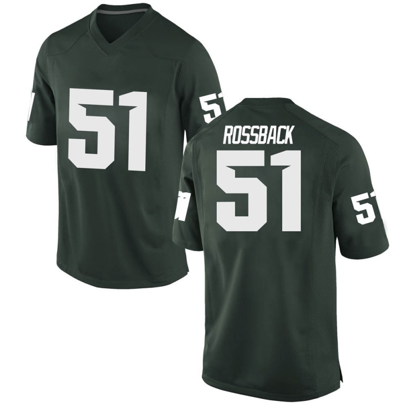 Replica Men's Nolan Rossback Michigan State Spartans Green Football College Jersey